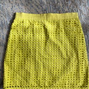 🌟3/$25 LOFT bright Green Neon type Skirt Sz 4 EUC